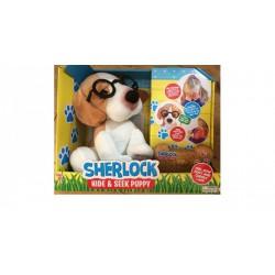 Sherlock a bújocskázó kutyus interaktív plüssjáték - Plüss és állat,-mesefigurák - Plüss és állat,-mesefigurák