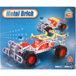 Terepjáró autó 146 darabos fém építőjáték - Fémépítők - Építőjátékok