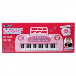 Szintetizátor 37 gombos mikrofonnal - rózsaszín - Játék hangszerek - Játék hangszerek