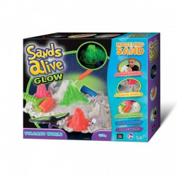 Sands Alive Glow világító vulkán homokgyurma készlet - Sands Alive készletek - Sands Alive készletek Sands Alive