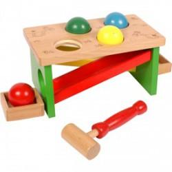 Kalapácsos fa játék labdákkal - Fajátékok fiúknak - Fajátékok