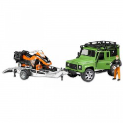 Bruder Land Rover Defender kombi utánfutóval és snowboarddal (02594) 1:16 - Bruder játékok - Bruder játékok Bruder