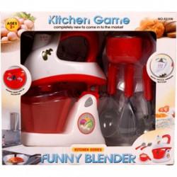 Elemes játék konyhai keverőgép - fehér-piros - Konyhák - Konyhák