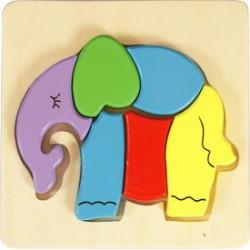 Elefánt fa 6 darabos puzzle - Logikai fajátékok - Fajátékok