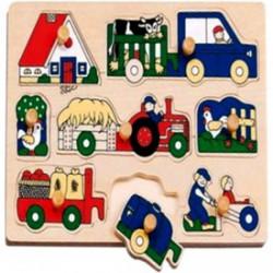 Farm járművek 8 darabos puzzle - Az első fajátékaim - Az első fajátékaim