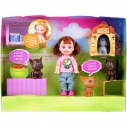 Sairy baba cicákkal ( 10cm babával ) - Defa Lucy babák és kiegészítők - Defa Lucy babák és kiegészítők Defa Lucy
