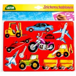 Lena autók és emberek rajzolósablon 2 darabos készlet - Lena golyófuttató, pötyi, műanyag játékok - Lena golyófuttató, pötyi, műanyag játékok Lena