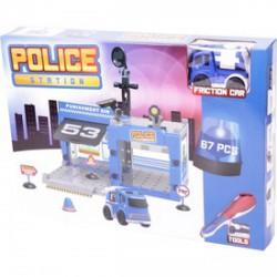 Műanyag építőjáték rendőrség, 67 darabos - Építőjátékok - Építőjátékok