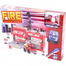 Műanyag építőjáték Tűzoltóság, 67 darabos - Építőjátékok - Építőjátékok