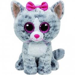 Teeny TY Beanie Boos KIKI szürke macska plüss 15 cm - Teeny TY plüssfigurák - Plüss és állat,-mesefigurák Teeny TY