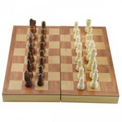 Fa sakk készlet - 27 cm - Logikai fajátékok - Fajátékok
