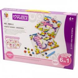 Mozaik képkirakó, 420 darabos, 6 az 1-ben - állatok - Kirakók, puzzle-ok - Kirakók, puzzle-ok