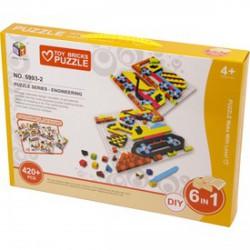 Mozaik képkirakó, 420 darabos, 6 az 1-ben - járművek - Kirakók, puzzle-ok - Kirakók, puzzle-ok