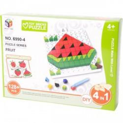Mozaik képkirakó, 128 darabos, 4 az 1-ben - gyümölcsök - Kirakók, puzzle-ok - Kirakók, puzzle-ok