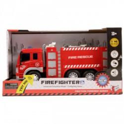 Fecskendős tűzoltóautó fénnyel és hanggal - 1:16 - Bébijátékok - Bébijátékok