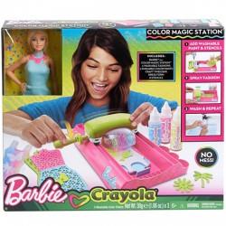 Barbie Crayola színező - Ruhafestő állomás babával - Barbie babák - Barbie babák Barbie