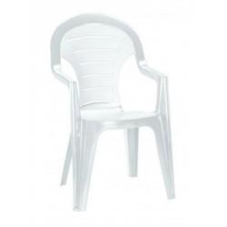 Curver 142668 Bonaire műanyag kerti szék, fehér színben - KERTI bútorok - KERTI bútorok Curver