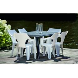 Curver 220573 Dante alacsony támlás műanyag kerti szék, fehér színben - KERTI bútorok - KERTI bútorok Curver