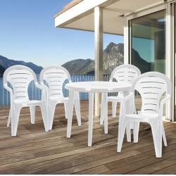 Curver BONAIRE41FEH Bonaire 4+1 kerti bútor garnitúra, fehér színben - KERTI bútorok - KERTI bútorok Curver