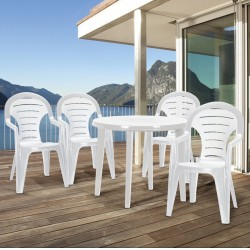 Curver BONAIRE41CAP Bonaire 4+1 kerti bútor garnitúra, cappuccino színben - KERTI bútorok - KERTI bútorok Curver