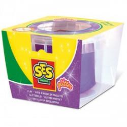 SES csillogó gyurma - lila, 90 g - SES Kreatív játékok - SES Kreatív játékok SES