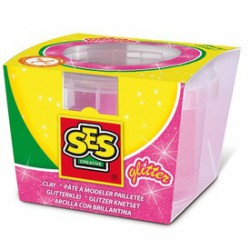 SES csillogó gyurma - rózsaszín, 90 g - SES Kreatív játékok - SES Kreatív játékok SES