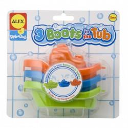 Alex 3 kishajó a kádban bébijáték - Alex fürdőjátékok - Alex fürdőjátékok ALEX