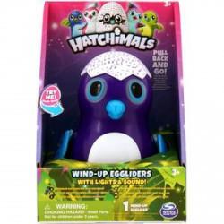 Hatchimals Wind-up Eggliders felhúzható tojás zenél, világít, lila színben - Hatchimals plüssök tojásban - Hatchimals plüssök tojásban Hatchimals