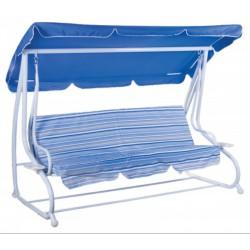 Gardenwell 47017 Crete hintaágy, kék-fehér - KERTI bútorok - KERTI bútorok Gardenwell