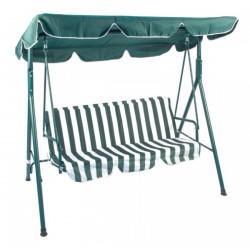 Gardenwell 23741 Mykonos hintaágy, zöld-fehér - KERTI bútorok - KERTI bútorok Gardenwell