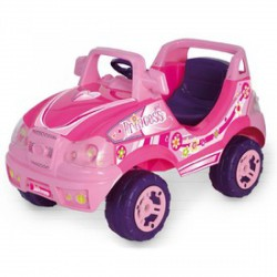 Elektromos terepjáró - rózsaszín, 6V, bébiautó - Járművek - Járművek