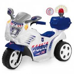 Elektromos háromkerekű rendőrmotor - 72 cm, 6V, bébimotor - Járművek - Járművek