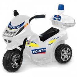 Elektromos háromkerekű rendőrmotor - 65 cm, 6V, bébimotor - Járművek - Járművek