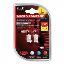 IZZÓ 24 V LED FEHÉR T-10 PÁR - LED - LED
