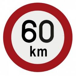 TÁBLA 60 KM - TÁBLÁK - FIGYELMEZTETÉS
